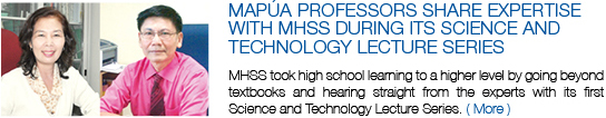 Mapúa professors share expertise with MHSS during its Science and Technology Lecture Series